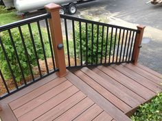 composite deck railing black - Google Search
