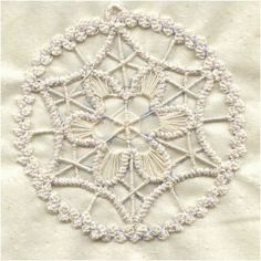 Romanian point lace snowflake