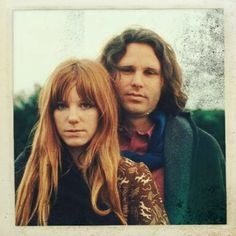 "sixtiesdoitbetter: "" Pamela Courson and Jim Morrison. "" A lot of people hate Pam, but I think she and Jim made a lovely couple."