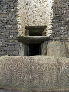 Petrogyphs at the Entrance of Newgrange, a 5000 Year Old Passage Tomb Photographic Print by Rich Reid at Art.com