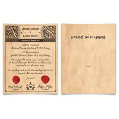 Bildergebnis Für Einladungskarten Hochzeit Texte Gothic Deutsch