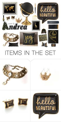 """Created By Andrea"" by anabdesign ❤ liked on Polyvore featuring art"