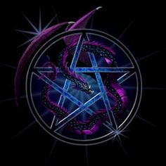 purple dragon blue star picture and wallpaper