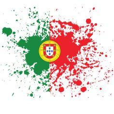Portuguese flag ink grunge