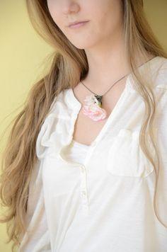 garden of textile: Flower necklace DIY
