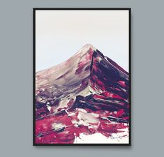 Printable Art Mountain Print Modern art prints by DanHobdayArt Modern Art Prints, Modern Wall Art, Printable Art, Printables, Pink Wall Art, Pink Walls, Abstract Wall Art, Painting Inspiration, Landscape Paintings