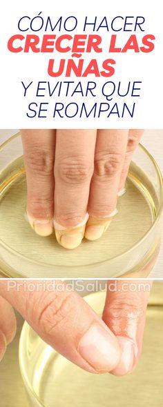 rmag20 Como hacer crecer las uñas y evitar que se rompan Beauty Care, Beauty Hacks, Hair Beauty, Rose Nails, Nail Arts, Pedicure, Body Care, Food And Drink, Health