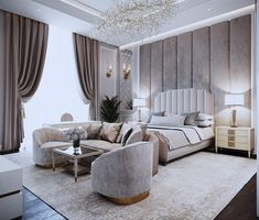 33 Amazing Luxury Living Room Designs Look Classy - Luxurious living room spells different to everyone but each of us has a common notion of what is luxurious and not. While some people's standards of l. Luxury Bedroom Design, Master Bedroom Design, Luxury Interior, Modern Bedroom, Interior Design Living Room, Living Room Designs, Bedroom Decor, Bedroom Designs, Cozy Bedroom