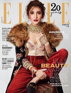 Anushka Sharma On The Cover Of Elle India Magazine October 2016