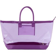 Stephanie Johnson Miami Carry-All Tote ($80) ❤ liked on Polyvore featuring bags, handbags, tote bags, purple, zip top tote bag, handbags totes, beach tote, purple tote and purple tote bags