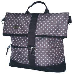 Haberland Bike Bag / Pannier, brn/beige Polka Dots