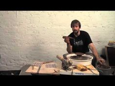 How to Screen Print Pattern on the Inside of a Thrown Bowl - FORREST MIDDELTON - YouTube