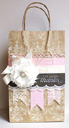 Altered Gift Bag by bridget