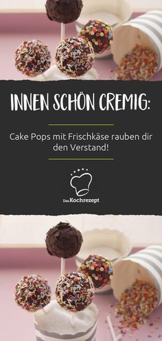Rezepte für Cake Pops, Macarons & Co. Without baking you can conjure up these delicious cake pops! Basic Cake, Desserts For A Crowd, Character Cakes, Dessert Decoration, Cake With Cream Cheese, Food Cakes, Cheesecake Recipes, Cupcakes, Clean Eating Snacks