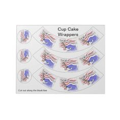 Labor Day Cup Cake Wrappers Note Pad