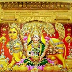Mahalakshmi with Kalpavruksha and Kamadhenu..... May all the wishes of her devotees be fulfilled
