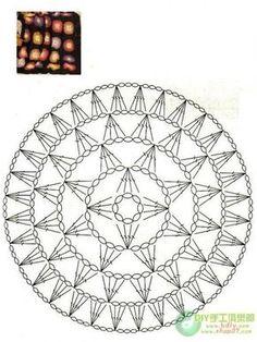 Afbeeldingsresultaat voor mandalas tejidas a crochet patrones Motif Mandala Crochet, Crochet Circles, Crochet Motifs, Crochet Chart, Crochet Diagram, Crochet Squares, Crochet Doilies, Crochet Flowers, Crochet Stitches