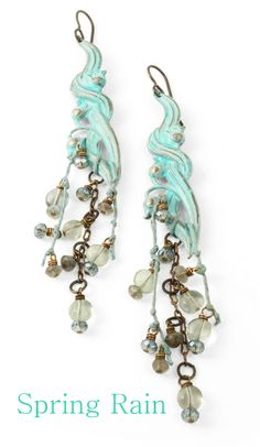 Vintaj Patinas are opaque inks specially formulated by Ranger to adhere to metal and create beautiful, durable patina effects. Learn how to create these beautiful Spring Rain earrings with Marine & Verdigris Patina and our Glaze