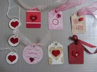 Valentine Heart Tags and Cards www.dianeuke.blogspot.com