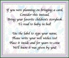 bring a book baby shower W/ new question