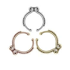 Rose gold plated fake septum ring New. Stunning rose gold plated fake septum ring. Thank you for visiting my closet, please let me know if you have any questions. I offer great discounts on bundles  also available in yellow gold and silver - there're separate listings for those. Boutique Jewelry