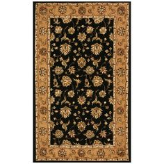 Dynamic Rugs Jewel 70231 Herati Persian Rug - Black/Camel - JW4670231092