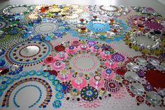 Check out Dutch Artist Suzan Drummen's incredible kaleidoscopic crystal floor installations ~  aren't these awesome?
