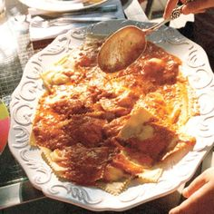 Cheese Ravioli with Fresh Tomato Sauce