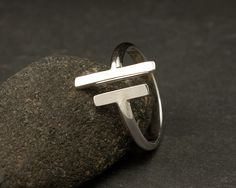 Parallel Bars  Sterling Silver Ring Simple Silver Ring by Artulia, $48.00
