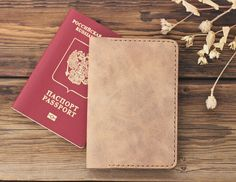 Items similar to Beige Leather Passport Cover with Card Holder, Slim Travel Accessories for Men and Women, Leather Document Organizer, Journal Case on Etsy Men's Accessories, Travel Accessories For Men, Leather Passport Wallet, Leather Card Wallet, Leather Business Card Holder, Minimalist Wallet, Passport Cover, Organizer, Wallets For Women