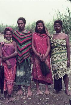 Village girls near Tambul, Western Highlands, Papua New Guinea early 1980s.