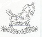 Geklöppeltes Schaukelpferd Mehr - New Ideas Types Of Embroidery, Lace Embroidery, Embroidery Designs, Crochet Snowflake Pattern, Crochet Snowflakes, Bobbin Lace Patterns, Needle Lace, Baby Scrapbook, Lace Making