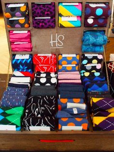 Get your socks game on! Happy Socks. My son would love these.