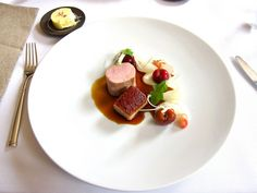 Eleven Madison Park - Pork Confit with Cherries, Onions & Guanciale