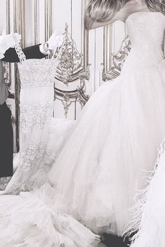 """Valentino and Atelier Versace gowns in """"24-Hour Couture"""" by Karl Lagerfeld   Harper's Bazaar Korea, Aug. 2007."""