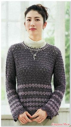 Ajurata croșetat pulover. - Moda Materiale tricotate + NEMODELNYH PENTRU LADIES - Țara Mamă