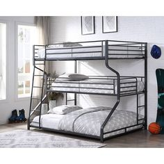 Bunk Bed Sets, Queen Bunk Beds, Bunk Beds For Boys Room, Bunk Beds With Stairs, Kid Beds, Kids Bedroom, Bed Rooms, 3 Tier Bunk Beds, Bunk Bed With Trundle