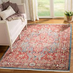 online shopping for Safavieh Kashan Collection Traditional Blue Red Area Rug x from top store. See new offer for Safavieh Kashan Collection Traditional Blue Red Area Rug x Colorful Rugs, Red Rugs, Oriental, Blue Area, Carpet Runner, Rugs, Trending Decor, Vintage Borders, Area Rugs