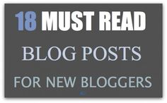 18 helpful posts for new (and established) bloggers! from Marty's Musings