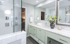 We love the refreshing and relaxing colour of this vanity. - Provided by W Network