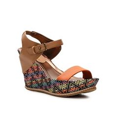 Kenneth Cole Reaction Huge Swell Wedge Sandal. Just enough color!