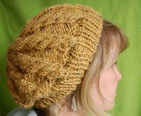 Slouch Hat. I would most likely knit it in a different color but I like the pattern.