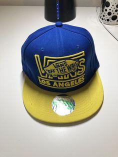 5db727ec7bd Vans Off the Wall Los Angeles Starter Natural Snapback Baseball Trucker Hat  Blue  fashion