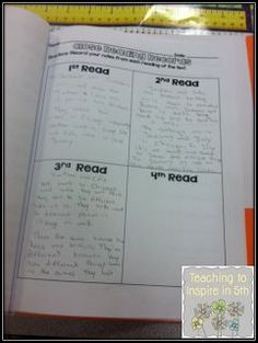 A great example of using close reading. Teaching To Inspire In How to Embed Close Reading in a Reading Lesson. (Could be adapted for high school) Reading Lessons, Reading Skills, Teaching Reading, Guided Reading, Reading Resources, Reading Record, Teaching Poetry, Reading Logs, Reading Groups