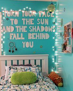 Tumblr Teenage Bedroom | room bedroom teenager room wall quote bedroom quote quote lights