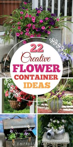 22 Creative Flower Container Ideas