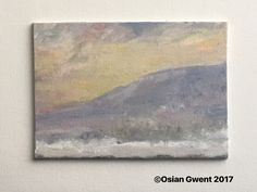 A Winter Scene 5x7 oil on canvas by full-time professional artist Osian Gwent BA (Hons) Fine Art