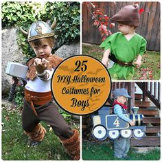 From Train conductor to Rubik's Cube, we've got your costumes covered in these 25 Totally Awesome DIY Halloween Costumes for Boys...