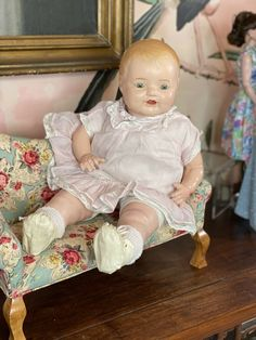 "20"" Antique Composition Baby Doll Doll Shop Inventory"