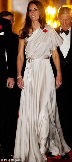 Silver Grecian-style gown - Jenny Packham